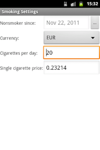 E-Smoker Calculator - screenshot thumbnail