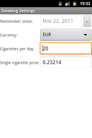 E-Smoker Calculator - screenshot
