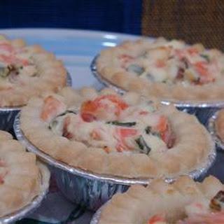 Smoked Salmon Mini Tarts.