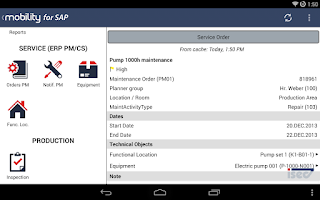 Screenshot of ISEC7 Mobility for SAP