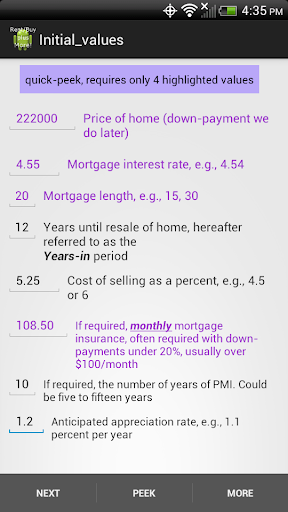 Rent Buy mortgage calculator