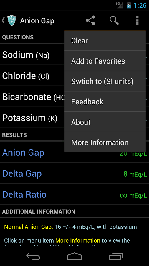 MediCalc Medical Calculator - screenshot