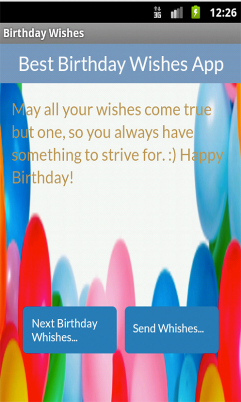 Best Birthday Wishes - screenshot