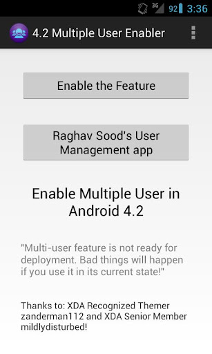 Multiuser on Root Android 4.2