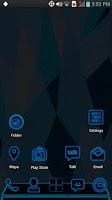 Screenshot of Next Launcher - Blue Theme