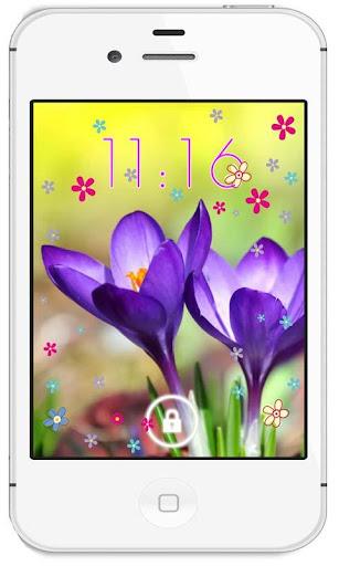 Crocus Flowers live wallpaper