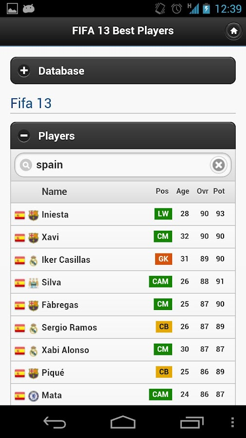 FIFA 13 Best Players - screenshot