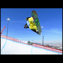 Freestyle snowboarding icon