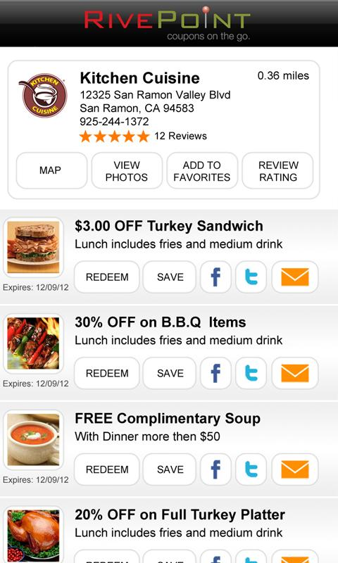 RivePoint - Coupons on the Go! - screenshot