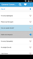 Screenshot of Learn Spanish Phrasebook