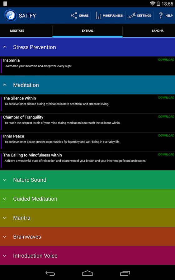 SATiFY Mindfulness Meditation - screenshot