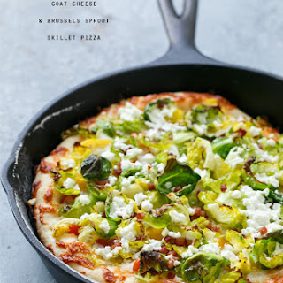 Goat Cheese and Brussels Sprout Skillet Pizza Recipe