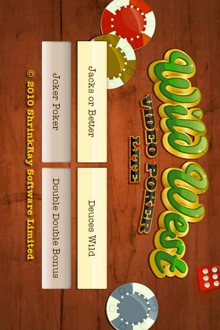 Wild West Video Poker Lite- screenshot