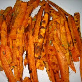 Easy And Healthy Baked Sweet Potato Fries!.