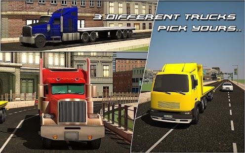 重型卡车拖车运输