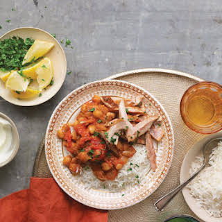 Tomato Chickpea Curry with Chicken.