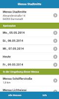 Screenshot of Mensa Darmstadt