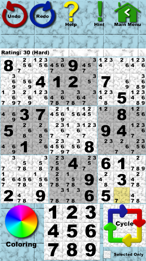 Sudoku Helper (Free Version)- screenshot