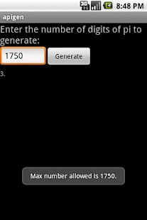 Pi Generator - screenshot thumbnail