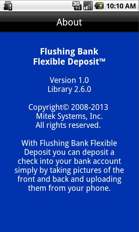 Flushing Bank Flexible Deposit - screenshot