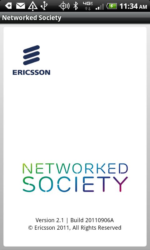 Ericsson Networked Society - screenshot