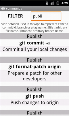 Git Commands / Cheat Sheet - screenshot