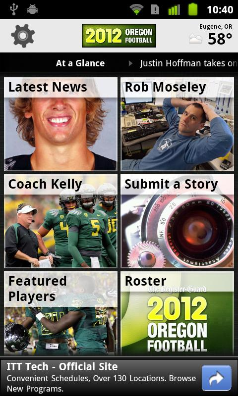 Oregon Ducks Football - screenshot