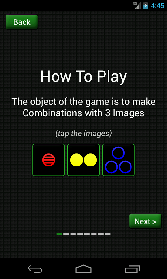 Combinations- screenshot