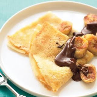 Crepes with Sauteed Bananas and Chocolate