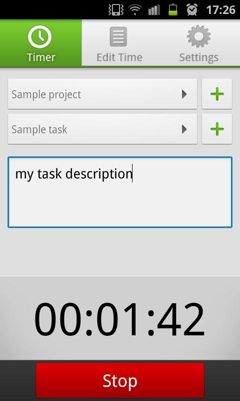 Paymo Time Tracker - screenshot