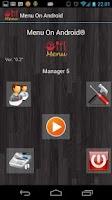 Screenshot of Menu On Android