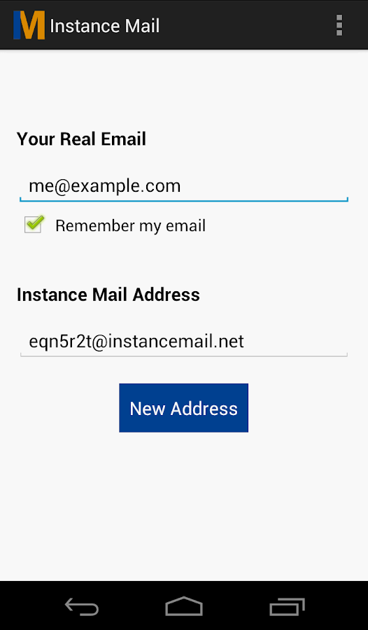 Instance Mail- screenshot