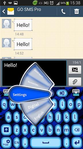 蓝高清键盘