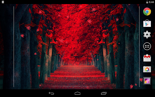 Red Leaves Live WallPaper- screenshot thumbnail