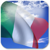 3D Italy Flag Live Wallpaper +