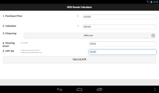 HDB Resale Calculator