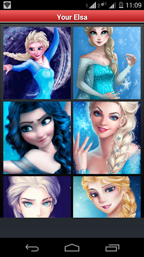 Recreate Elsa - Frozen Puzzle