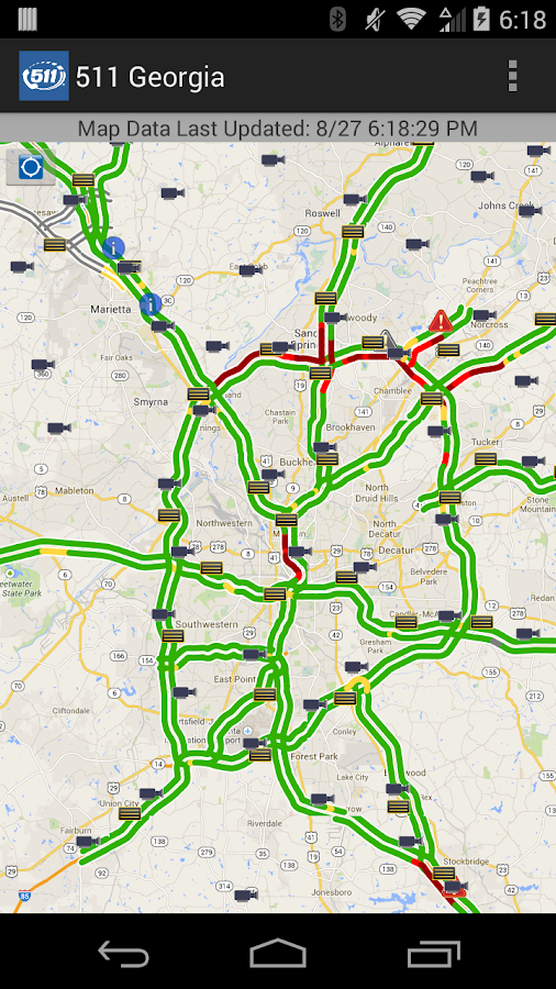 511 Georgia & Atlanta Traffic- screenshot