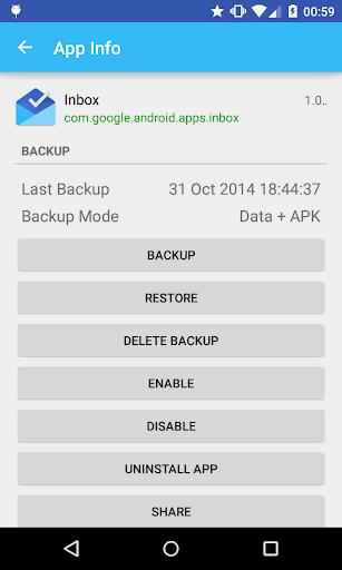 Parcel - Backup Restore