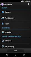 Screenshot of Xperia™ Diagnostics