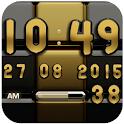 Digi Clock Black Gold widget icon