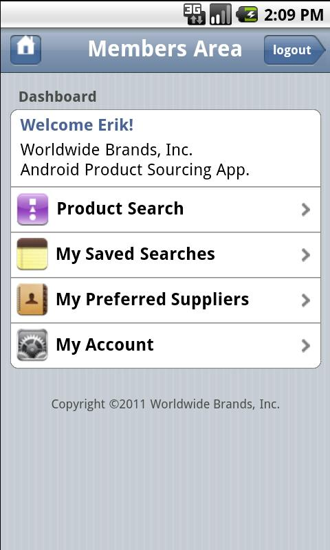 WWB Product Sourcing App - screenshot