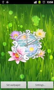Flower Clock Live Wallpaper - screenshot thumbnail