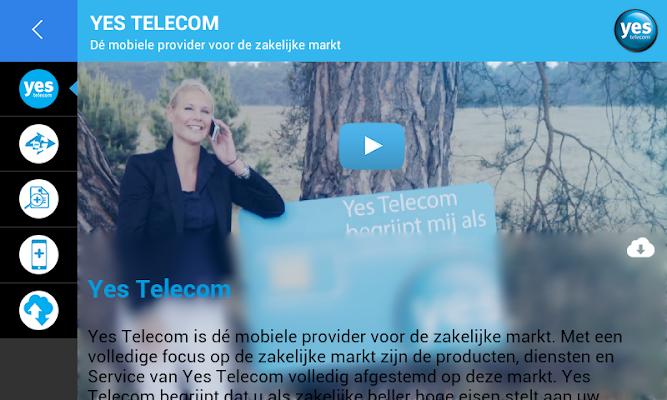 Yes Telecom - screenshot