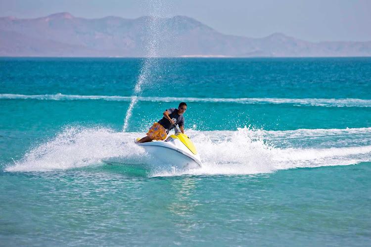 Jet skiing near Cabo San Lucas, Mexico.