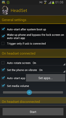 HeadSet - screenshot