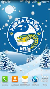 Parramatta Eels Snow Globe- screenshot thumbnail