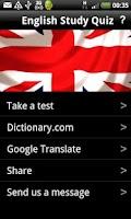 Screenshot of English Study Quiz