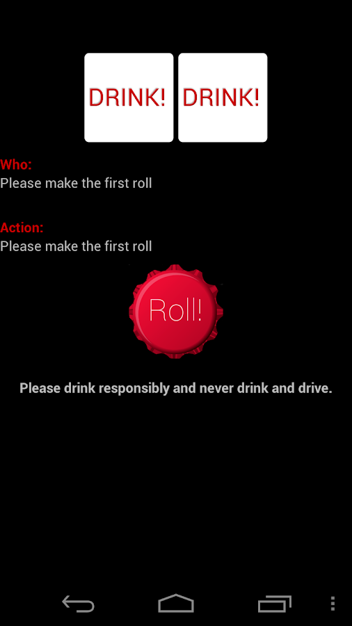 Drink! - A Drinking Game- screenshot