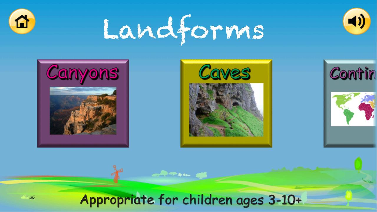 Landforms- screenshot
